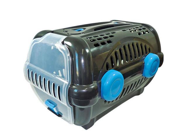 Caixa de Transporte Furacão Pet Luxo New Tamanho 1 Azul e Preto