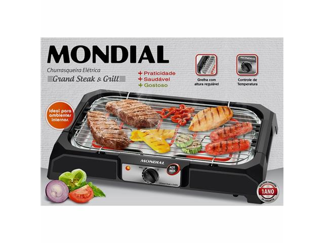 Churrasqueira Elétrica Mondial CH-05 Grand Steak & Grill 220V - 4