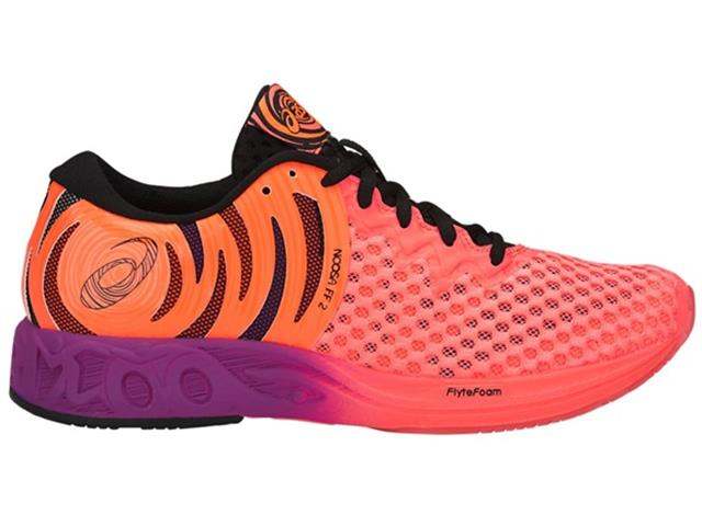 Tênis Asics Noosa Ff 2 Flash Coral/Black/Shocking Orange Feminino - 2