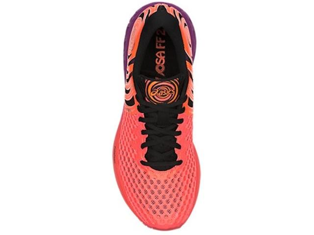 Tênis Asics Noosa Ff 2 Flash Coral/Black/Shocking Orange Feminino - 5