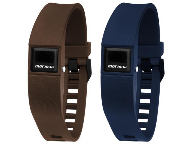 Relógio Mormaii Fit Digital MOBO3968/8M Troca Pulseira Marrom e Azul