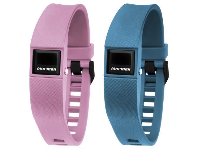 Relógio Mormaii Fit Digital MOBO3970/8A Troca Pulseira Rosa e Azul