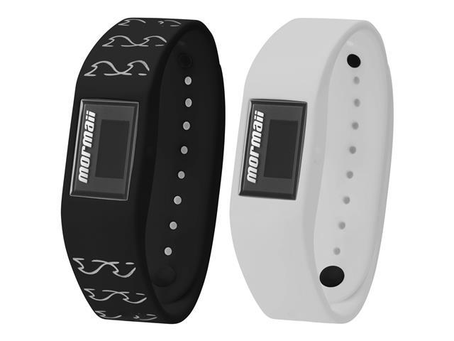 Relógio Mormaii Fit Digital MOBO4139/8P Troca Pulseira Preto e Branco