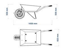 Carrinho de Mão Tramontina Extraforte Caçamba Metálica Reforçada 65 L - 3