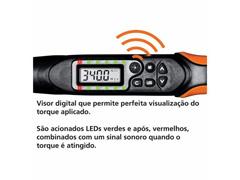 "Torquímetro Digital Tramontina PRO Encaixe 1/2"" 17-340 N.m - 2"