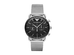 Relógio Emporio Armani Masculino AR11104/1KN Prata Analógico - 0