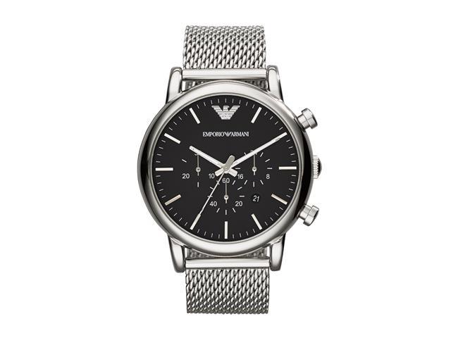 Relógio Emporio Armani Masculino AR1808/1PN Prata Analógico