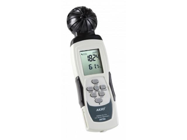 Medidor de CO2 Akso AK786 com Termo Higrômetro