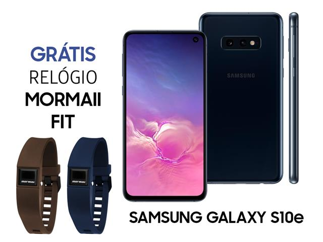 Smartphone Samsung Galaxy S10e 128GB 5,8' Preto+ Relógio Mormaii Fit