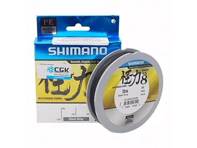 Linha Multifilamento Shimano Kairiki PE 20LB (0.18mm) X 300M Cinza - 1