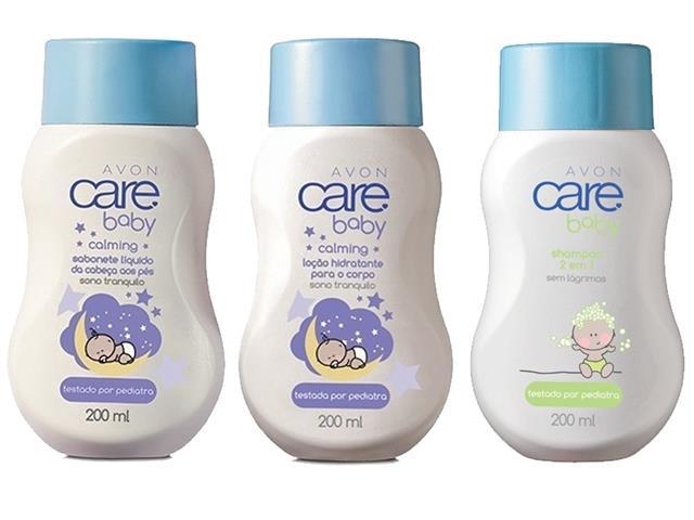 Combo Avon Shampoo, Sabonete Líquido e Loção Hidratante Care Baby