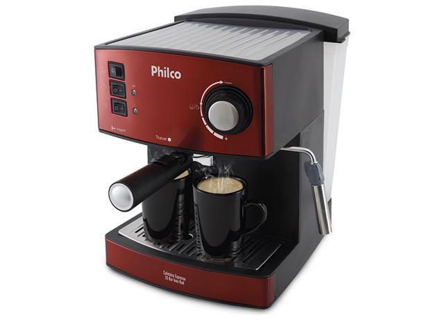 Cafeteira Elétrica Philco Expresso 20 Bar Inox Red 850W 110V