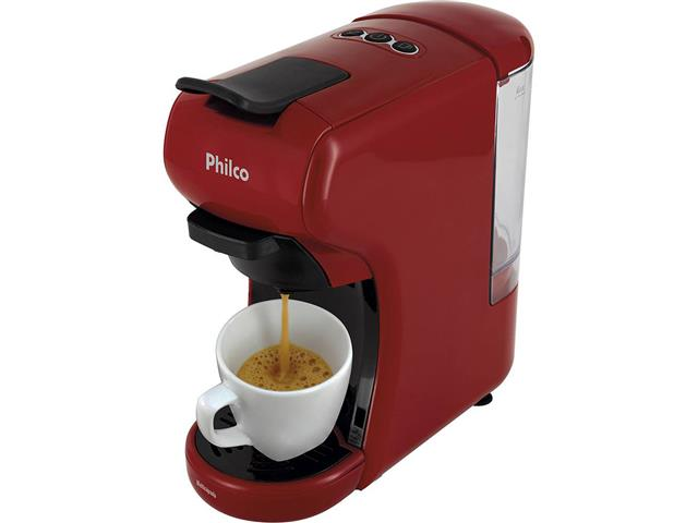 Cafeteira Elétrica Philco Multicapsula PCF19VP Vermelha 110V - 1