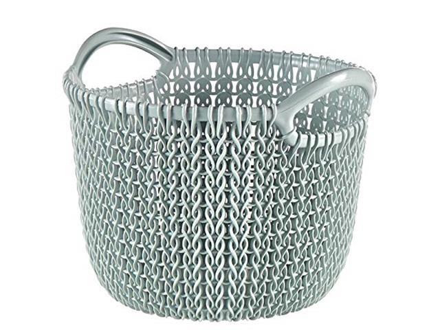Cesto Organizador Curver Knit Trançado Redondo 30 Litros Grayish