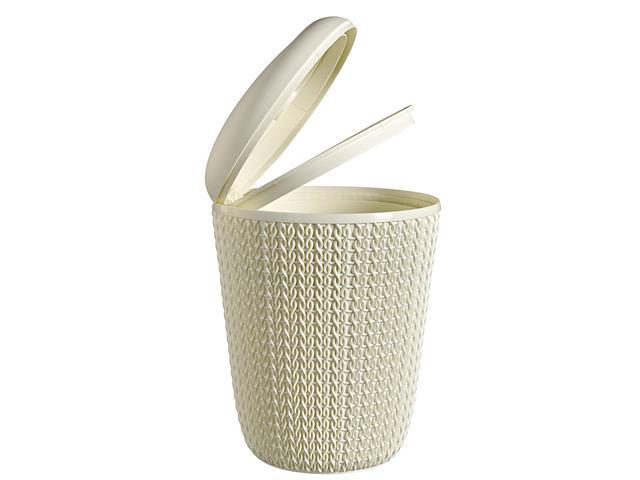 Lixeira Curver Knit Trançada 7 Litros Oasis White - 1