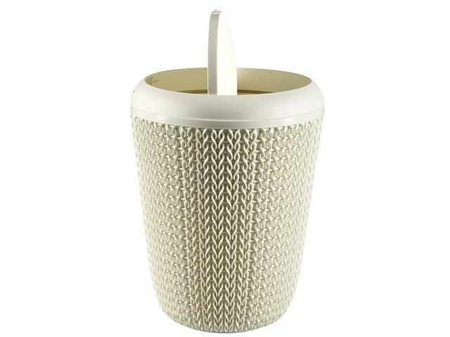 Lixeira Curver Knit Trançada 7 Litros Oasis White - 2