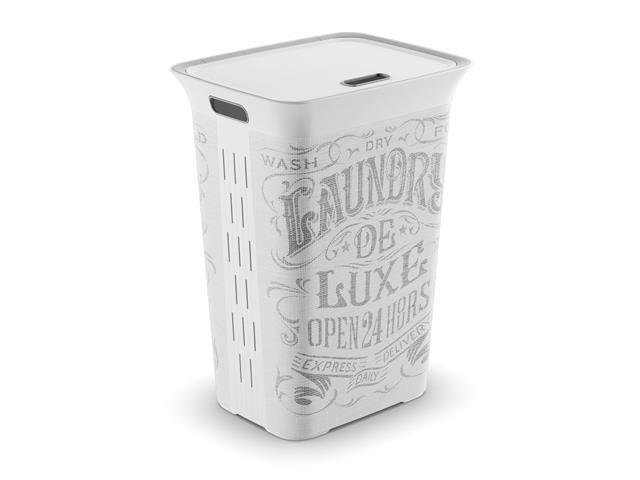 Cesto de Roupas Curver Chic Style 60 Litros Laundry Bag