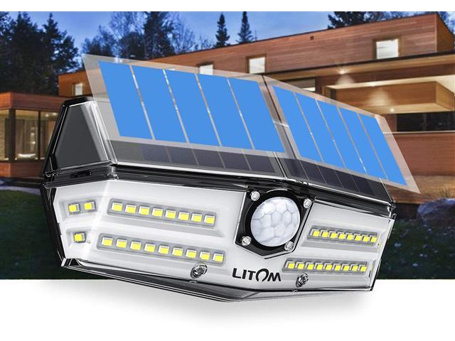 Luminária Litom 40 LED por Energia Solar com Sensor de Movimento - 1