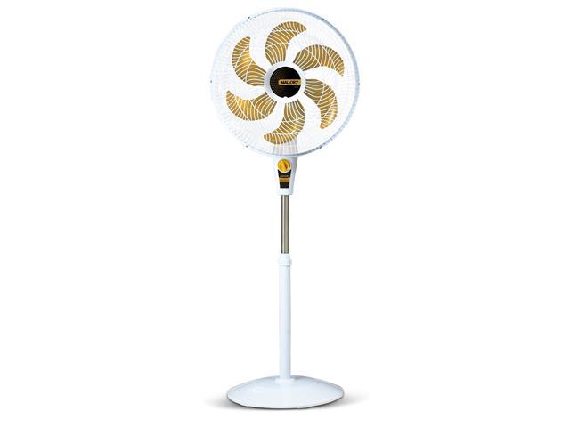 Ventilador de Coluna Mallory Delfos TS+ Branco e Dourado 40cm 220V