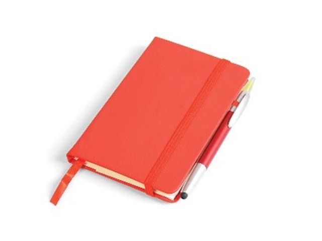 Caderneta Para Anotações com Caneta Vermelho