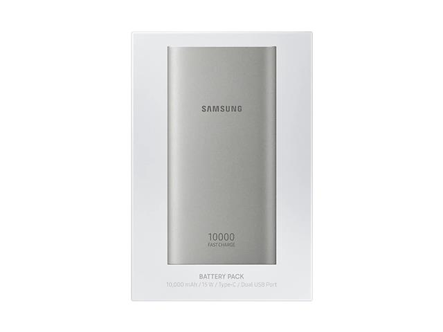 Bateria Externa Samsung carga rápida 10000mAh Prata - 5