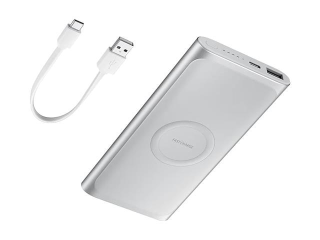 Bateria Externa Samsung Wireless carga rápida 10000mAh Prata - 1