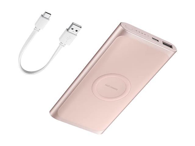 Bateria Externa Samsung Wireless carga rápida 10000mAh Rosé - 1