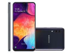 "Smartphone Samsung Galaxy A50 128GB 4G Tela 6.4"" 3 Câm 25+5+8MP Preto"