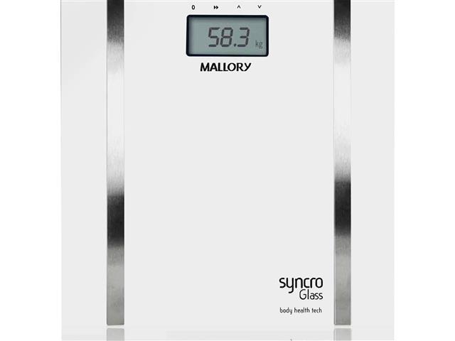 Balança Digital para Banheiro Mallory Syncro Glass
