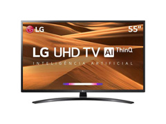 "Smart TV LED 55"" LG UHD 4K ThinQ AI TV HDR Ativo webOS 4.5 4 HDMI 2USB"