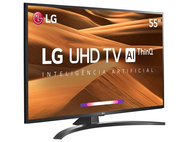 "Smart TV LED 55"" LG UHD 4K ThinQ AI TV HDR Ativo webOS 4.5 4 HDMI 2USB - 2"