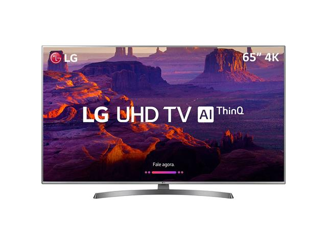 "Smart TV LED 65"" LG UHD 4K ThinQ AI TV HDR Ativo webOS 4.5 4 HDMI 2USB - 0"