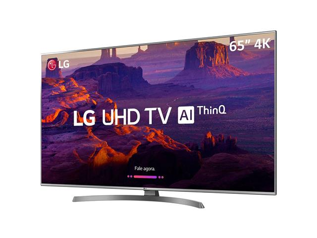 "Smart TV LED 65"" LG UHD 4K ThinQ AI TV HDR Ativo webOS 4.5 4 HDMI 2USB - 1"