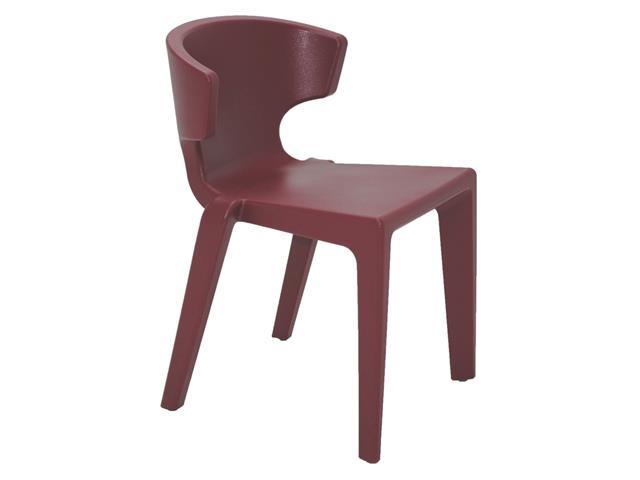 Cadeira Tramontina Marilyn em Polietileno sem Braços Marsala