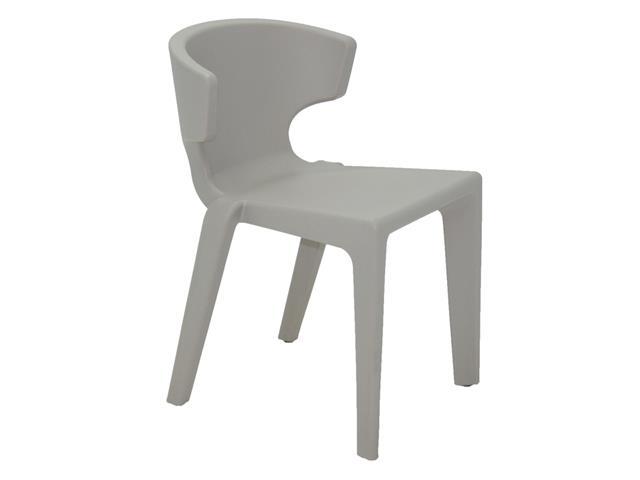 Cadeira Tramontina Marilyn em Polietileno sem Braços Concreto