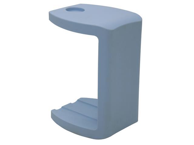 Banco/Apoio Tramontina Vira em Polietileno com Porta Copos Azul