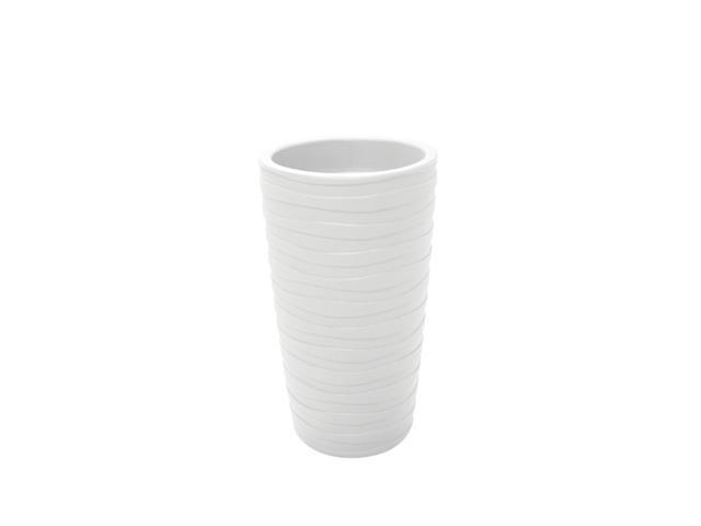Vaso Grego Tramontina em Polietileno 65 cm Mármore