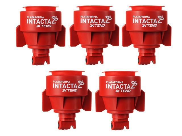 Combo com 5 Pontas para Pulverização Teejet INTACTA2 TTI 04 Vermelho