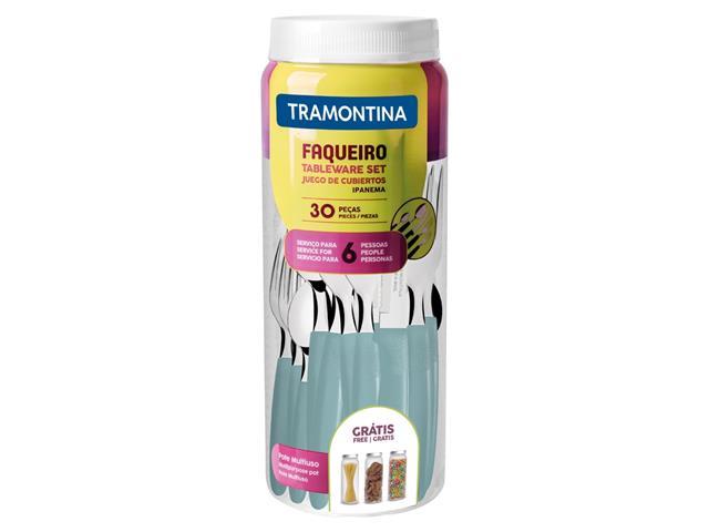 Faqueiro Inox Tramontina Ipanema Turquesa 30 Peças - 2
