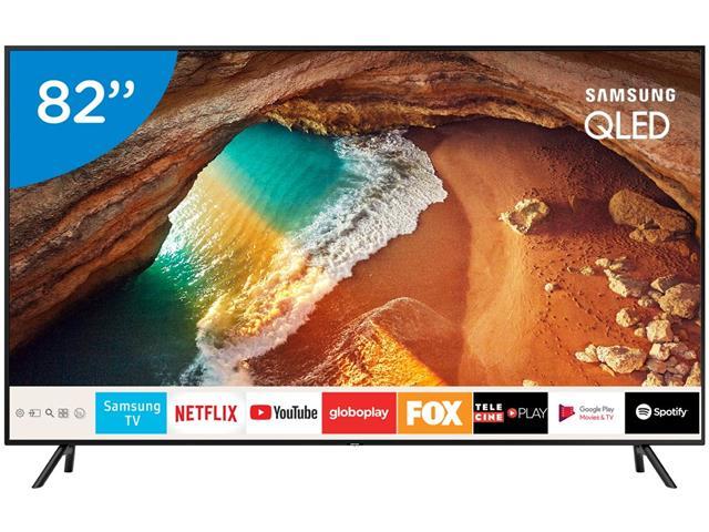 "Smart TV QLED 82""Samsung UHD 4K Pontos Quânticos Q60R HDR 4HDMI 240Hz"