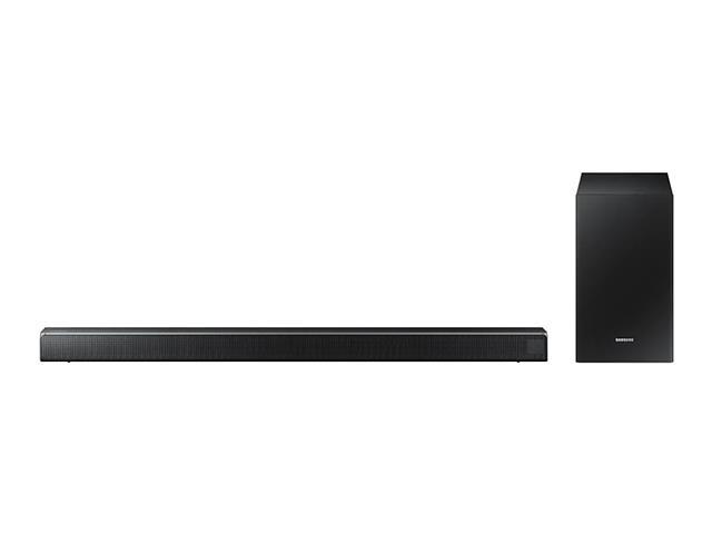 Soundbar Samsung 2.1 Canais 320W Bluetooth e Subwoofer Sem Fio R550 - 1