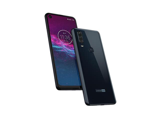 "Smartphone Motorola One Action 128GB 6.3"" 4G Câm 12+5+16MP Azul Denim - 3"