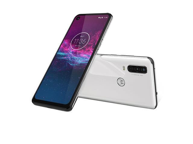 "Smartphone Motorola One Action 128GB 6.3""4G Câm 12+5+16MP Branco Polar - 4"