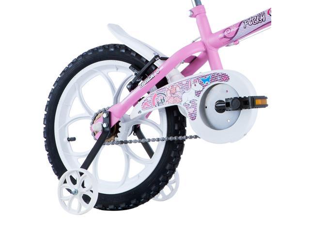 Bicicleta Infantil Track Bikes Pinky Aro 16 Rosa e Branco - 3