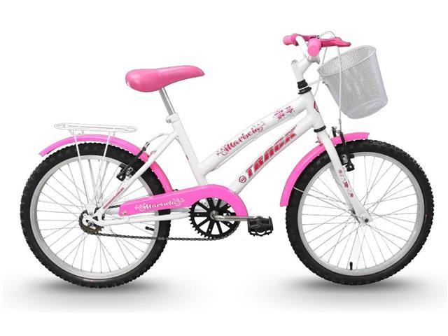Bicicleta Juvenil Track Bikes Marbela Aro 20 Branco e Rosa - 1