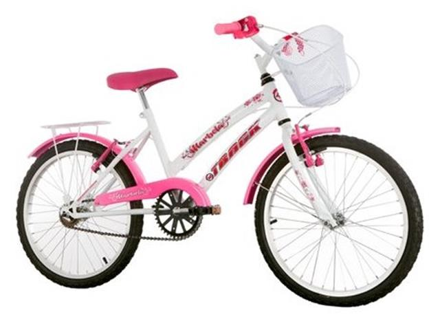 Bicicleta Juvenil Track Bikes Marbela Aro 20 Branco e Rosa