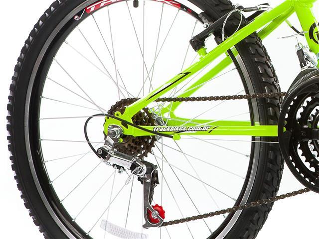 Bicicleta Track Bikes Dragon Fire 18V Aro 24 Verde Limão - 3