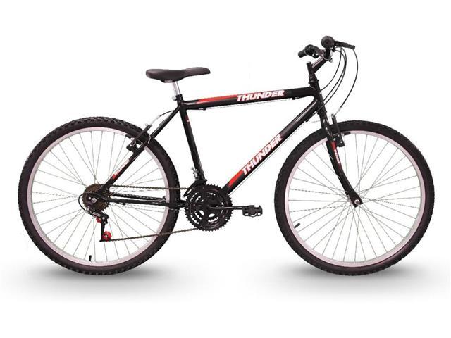 Bicicleta Track Bikes Thunder 18V Aro 26 Preta - 1