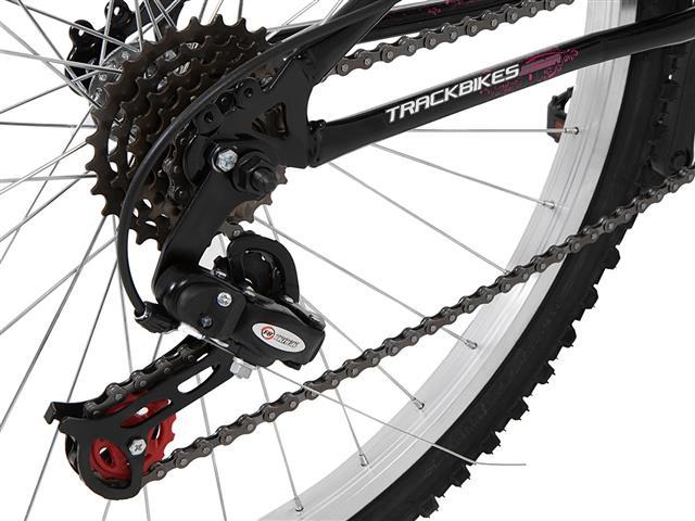 Bicicleta Track Bikes TB 200 Mountain Bike Aro 26 Preta e Rosa - 8