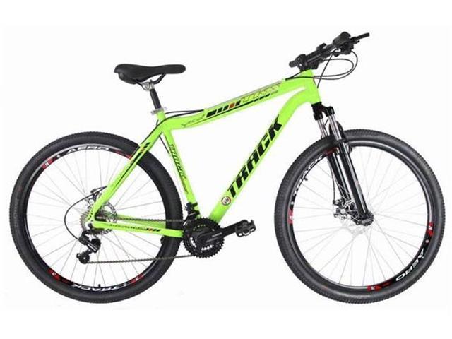 Bicicleta Track Bikes TB TKS Mountain 21V Shimano Aro 29 Verde Neon